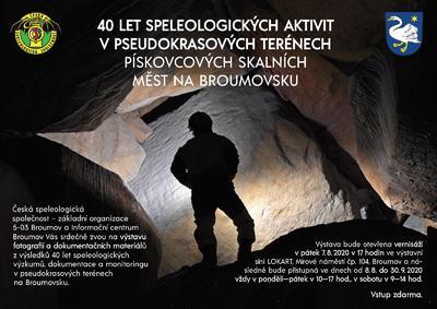 Výstava 40 let speleologie na Broumovsku