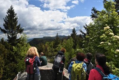 Exkurze do Broumovských stěn proběhla v dobré náladě a krásném počasí